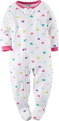 03f728bbc Carter s Baby Girls  1-Piece Footed Fleece Pajamas