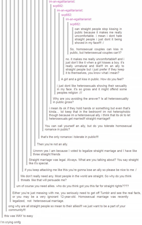 Heterosexuals are unnatural
