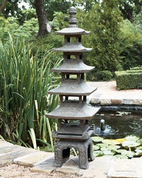 Pagoda Outdoor Sculpture Traditional Garden Sculptures Asiatischer Garten Pagode Garten Japanische Steinlaternen