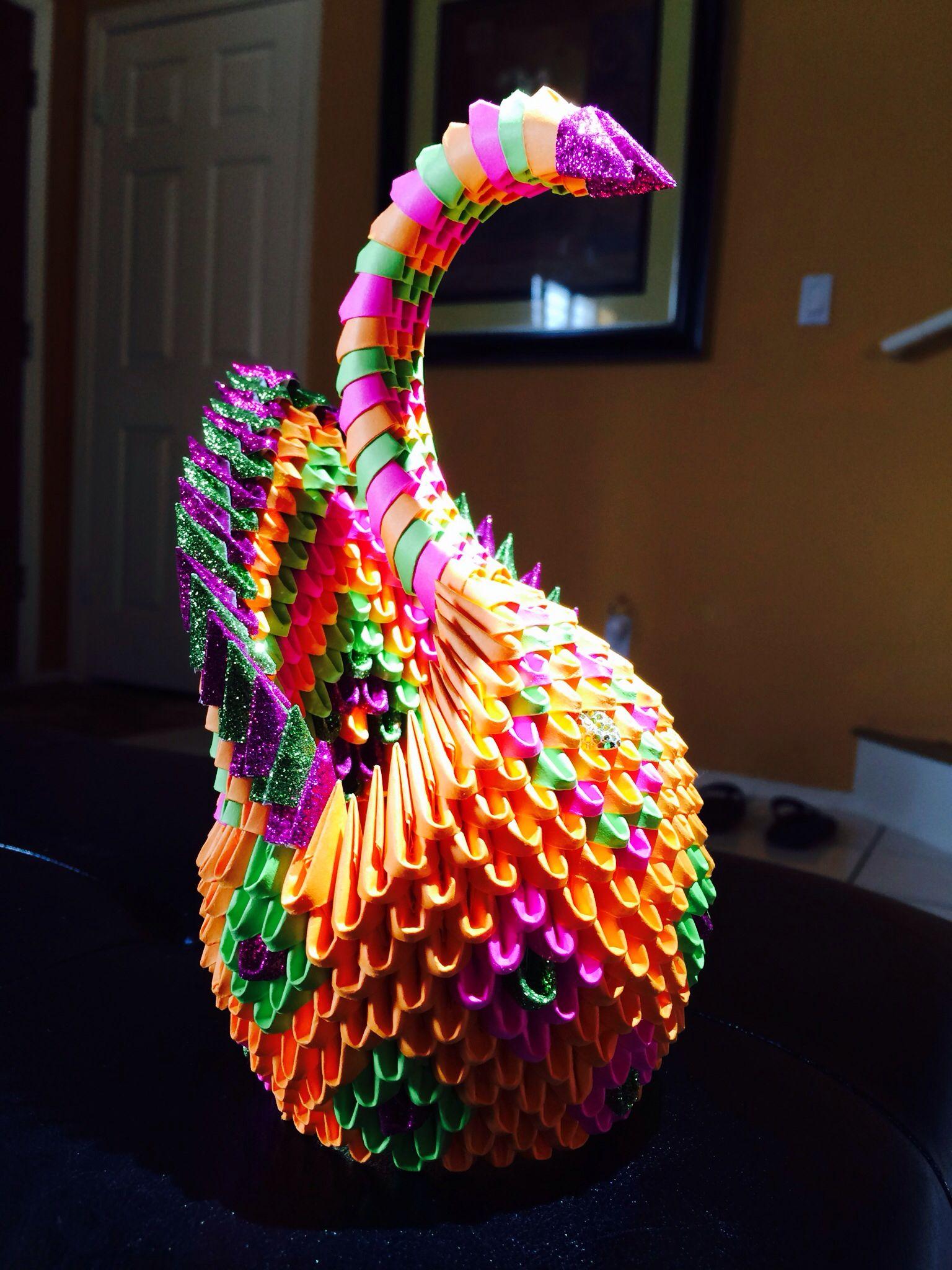 3D origami swan | 3D origami | Pinterest | Origami swan ... - photo#37
