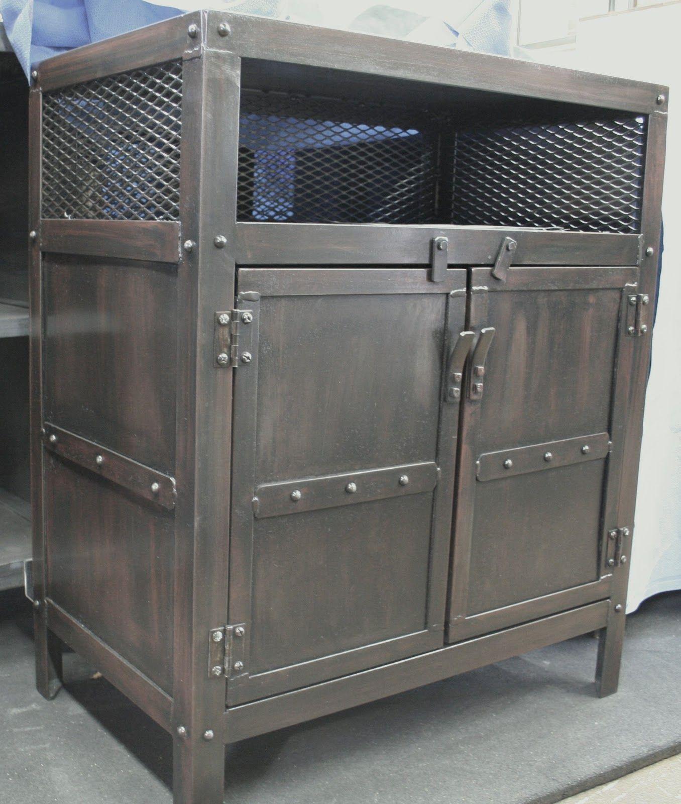 Overawe industrial nightstand furniture designs fierro y for Muebles industriales