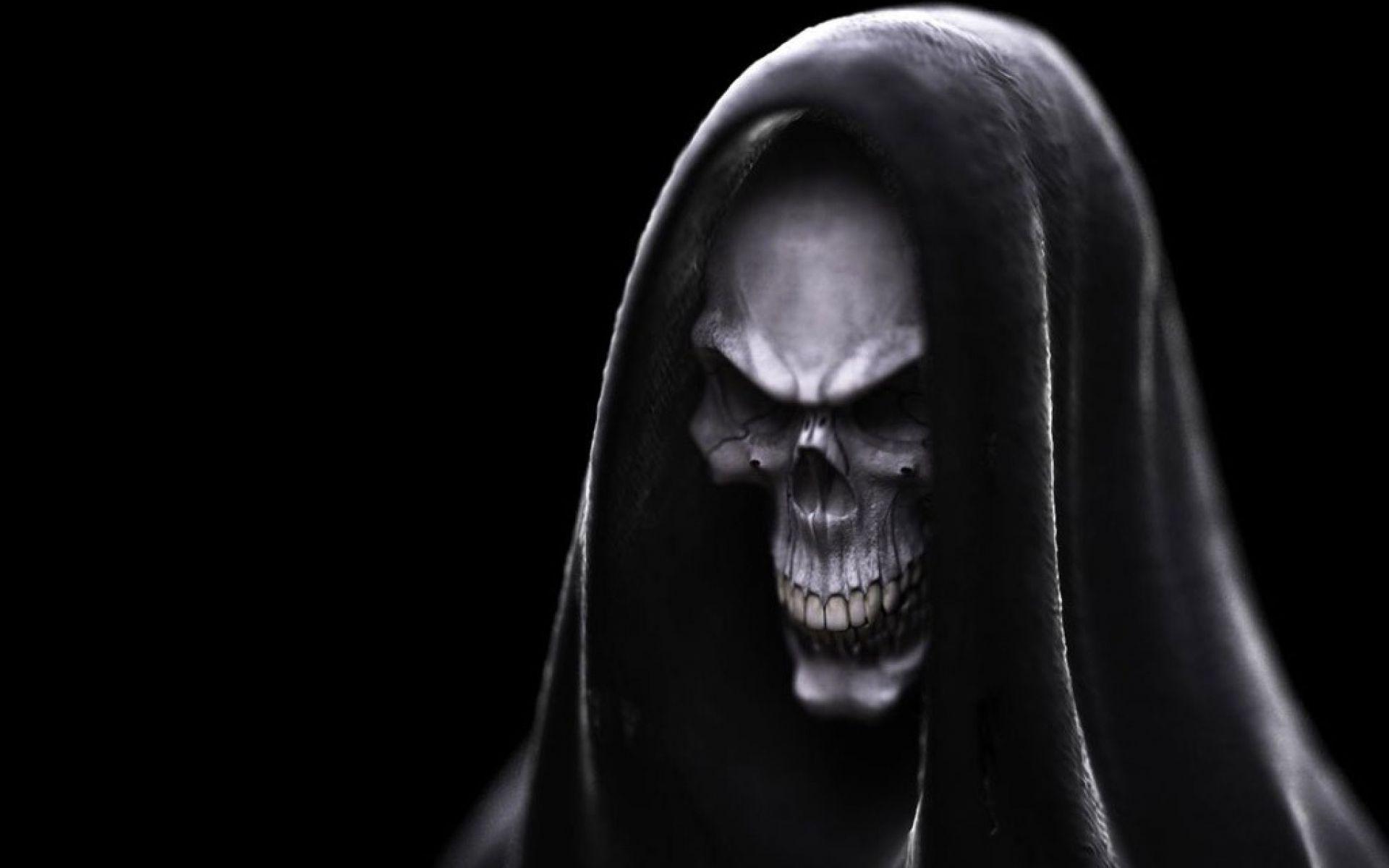 Desktophdwallpaper Org Skull Wallpaper Dark Evil Evil Background