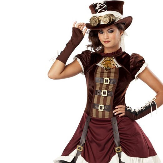 Steampunk girl 39 s costume gothic halloween costumes for Cool halloween costumes for kids girls