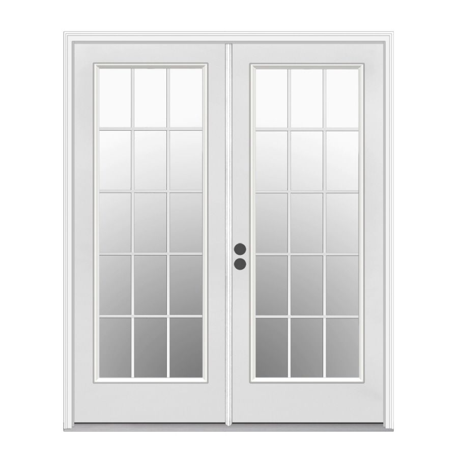 Shop Reliabilt 71 1 2 In Low E Insulating 15 Lite Steel French Inswing Patio Door At Lowes Com French Doors Patio