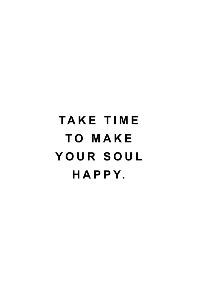 Take time to make your soul happy Throw Pillow by Standard Prints / Posters