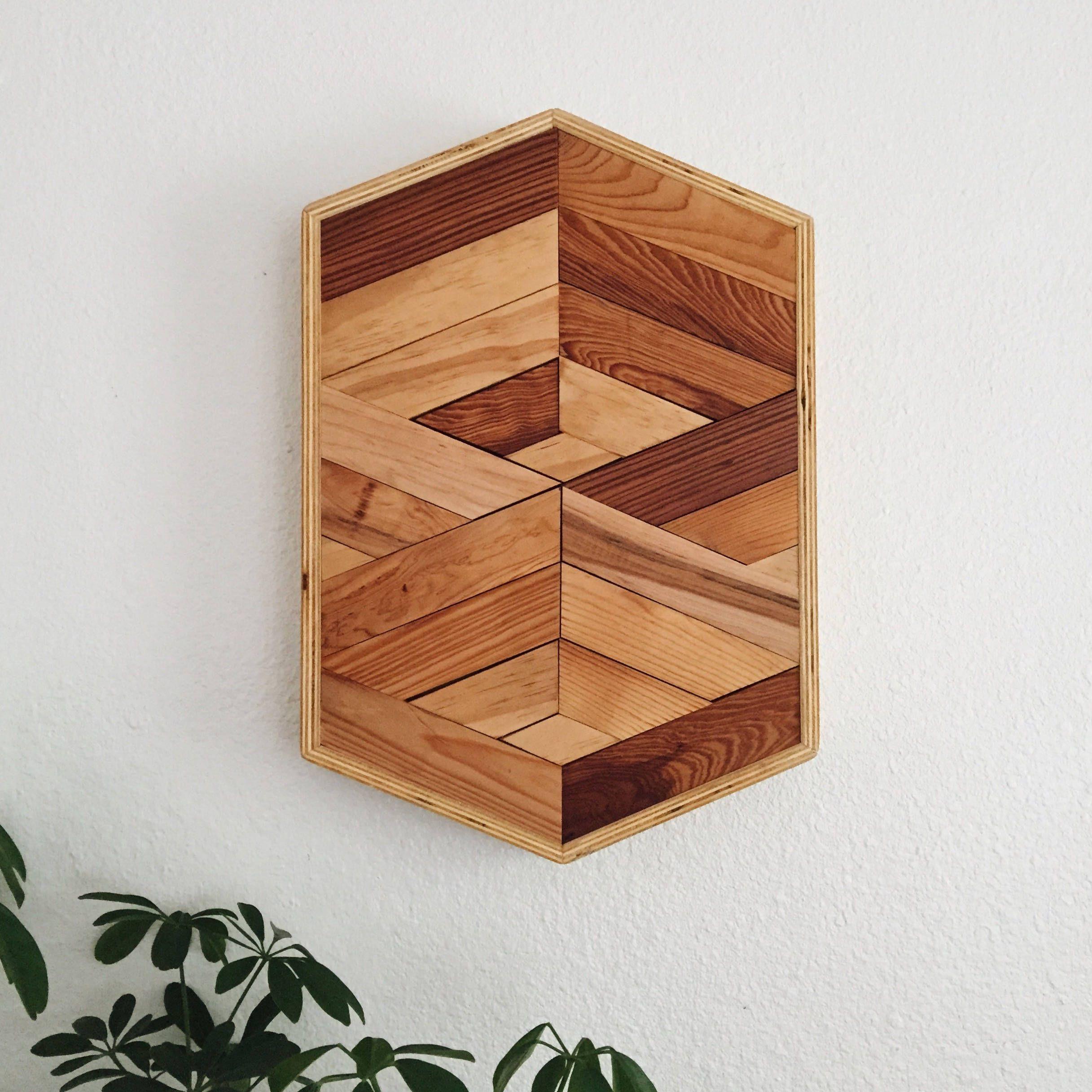 Hexagon 003   Reclaimed Wood Wall Art   Geometric Wall Art ...