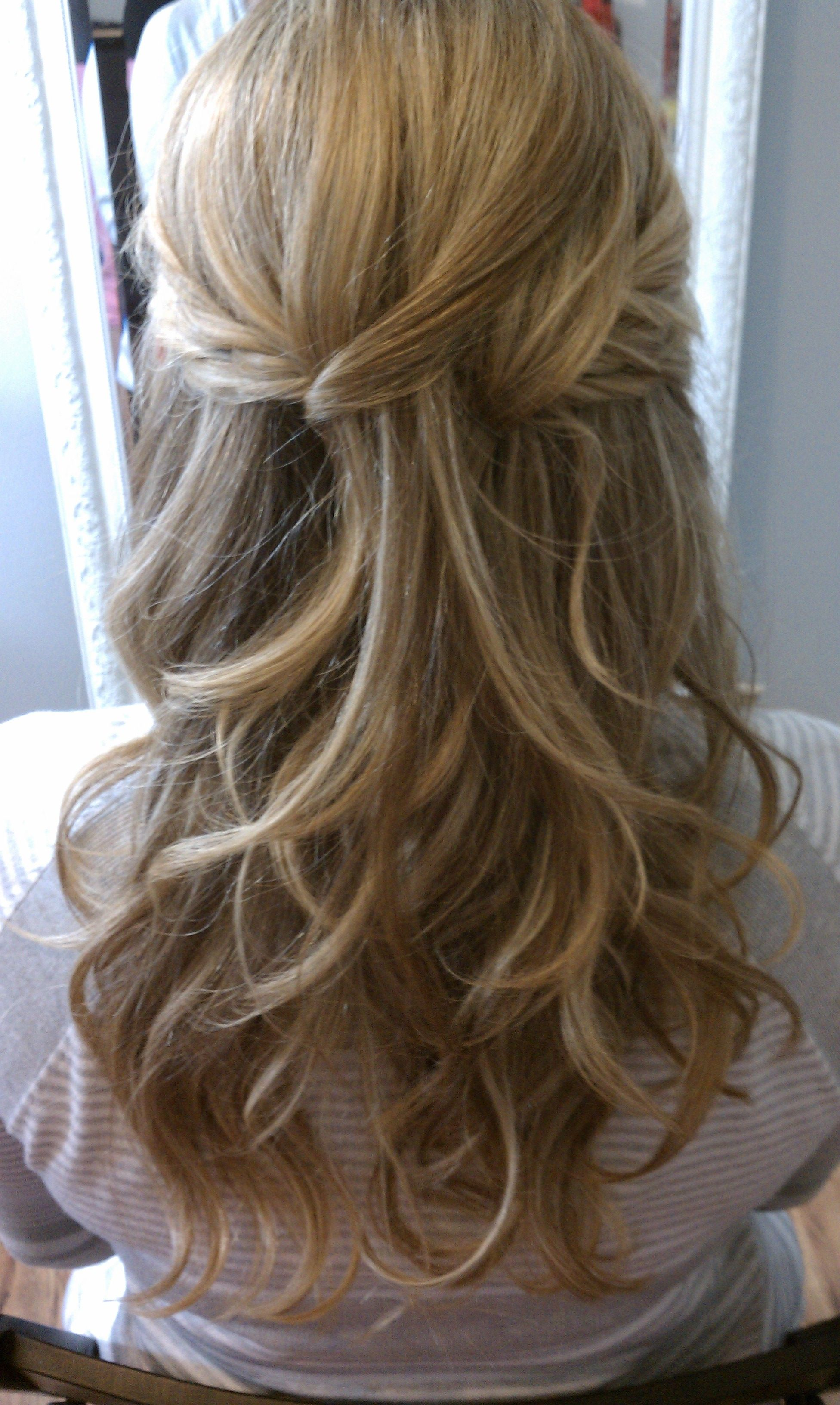 bridal hair half up half down. very close to what i want to