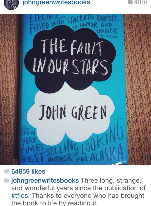 HAPPY 3rd YEAR ANNIVERSARY OF TFIOS!! Thank you so much John Green for creating not only this amazing story but for creating Augustus, Hazel Grace, and Isaac. They are all by far the BEST fictional characters ever. This book has changed a lot of people's lives and I'm proud to say that I am one of people. Another thank you to the director of TFIOS for bringing this all to life. And my last thank you goes to Ansel, Shai and Nat for being our Gus, Hazel and Isaac. They couldn't have found…