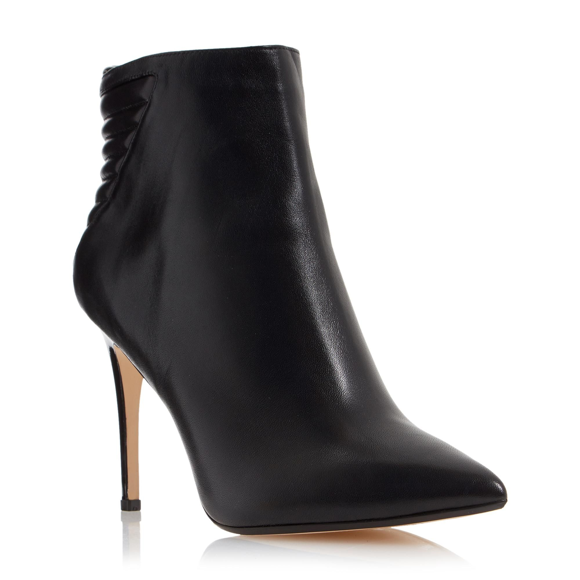 DUNE LADIES ONA - Leather Pointed Toe Heeled Ankle Boot - black | Dune Shoes Online