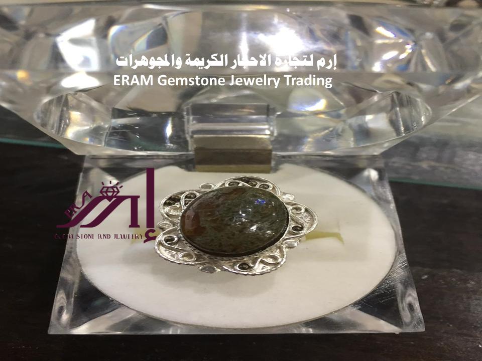 خاتم زهرة عقيق يمني نسائي دوادي طبيعي 100 Agate Perfume Bottles Gemstone Jewelry Perfume