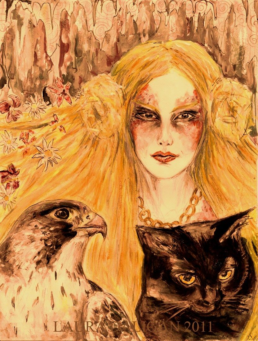 Freyja painting by Laura Daligan
