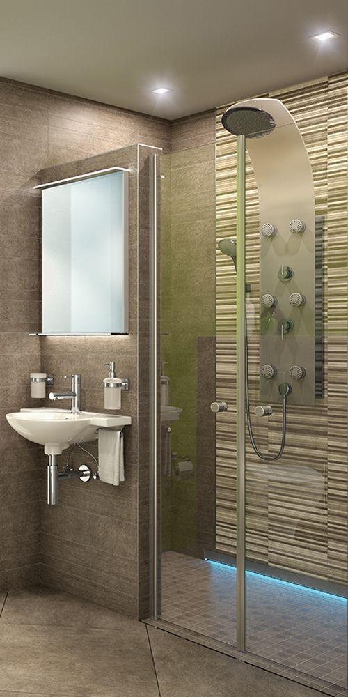 Duschpaneel Avital Universum Glas Weiss Mit Einhebelmischer Bei Hornbach Kaufen Dusche Duschsysteme Glas