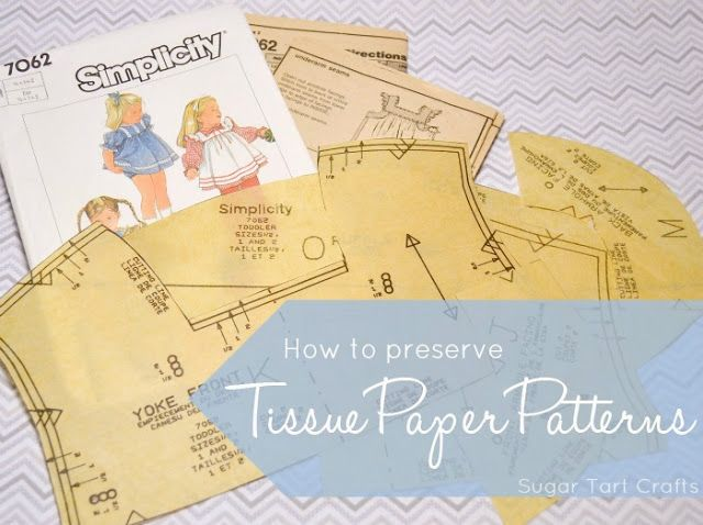 Tip: use iron-on interfacing to strengthen and preserve tissue paper sewing patterns.