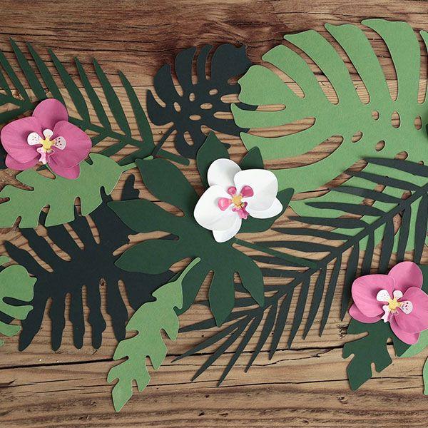 Diy Party Decoration Kit Clusters: Kit DIY Fleurs Tropicales En Papier