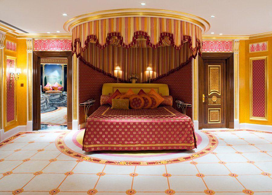 One Of 2 Master Bedrooms At Royal Suite Burj Al Arab Hotel