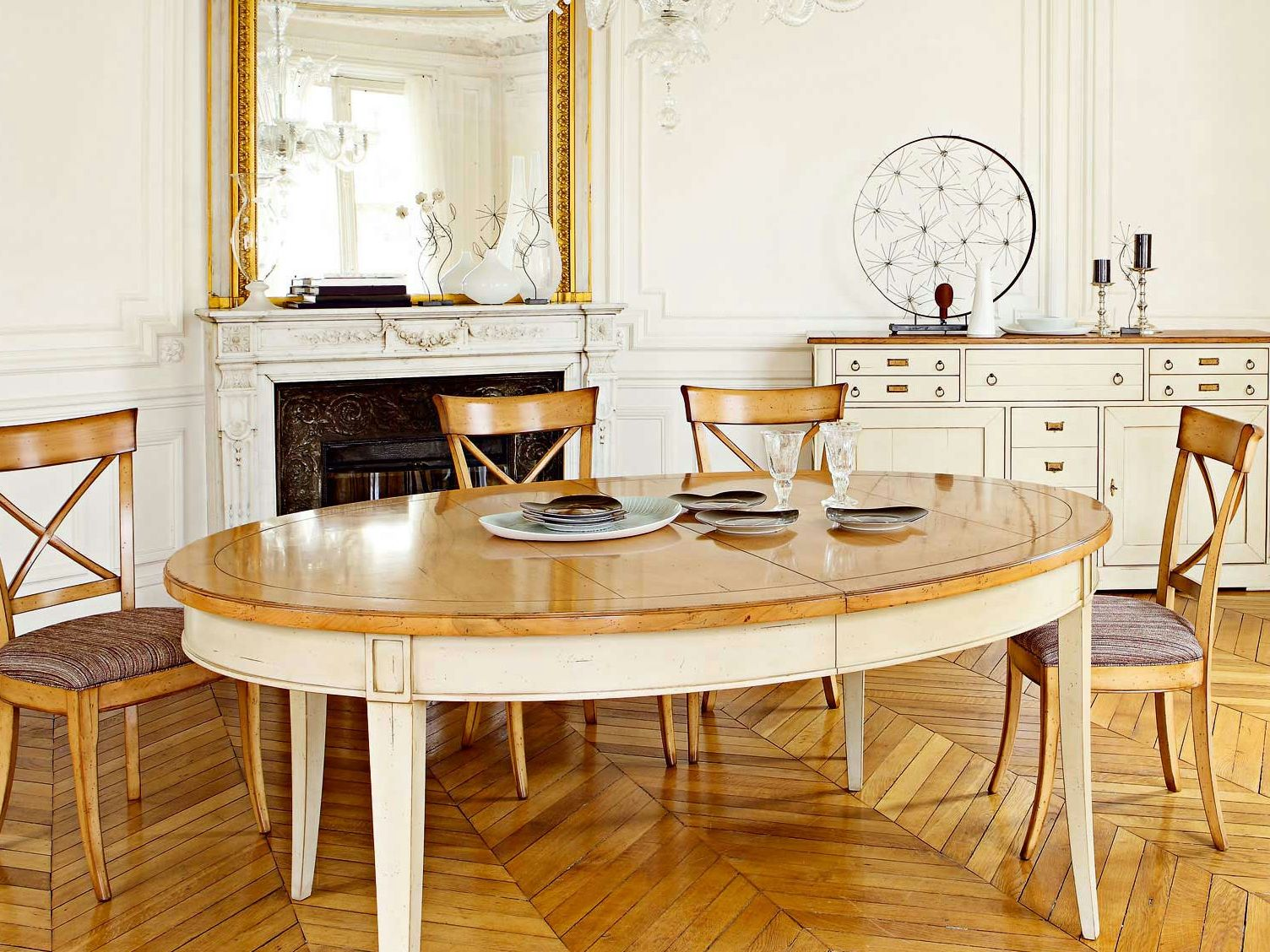 Oval cherry wood table HAUTEVILLE | Table - ROCHE BOBOIS | Dining ...
