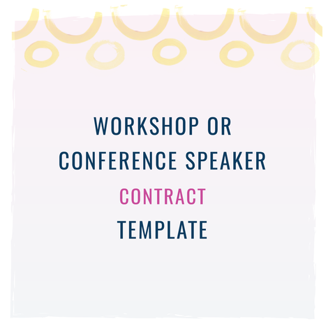 Workshop Or Conference Speaker Contract Template Templates