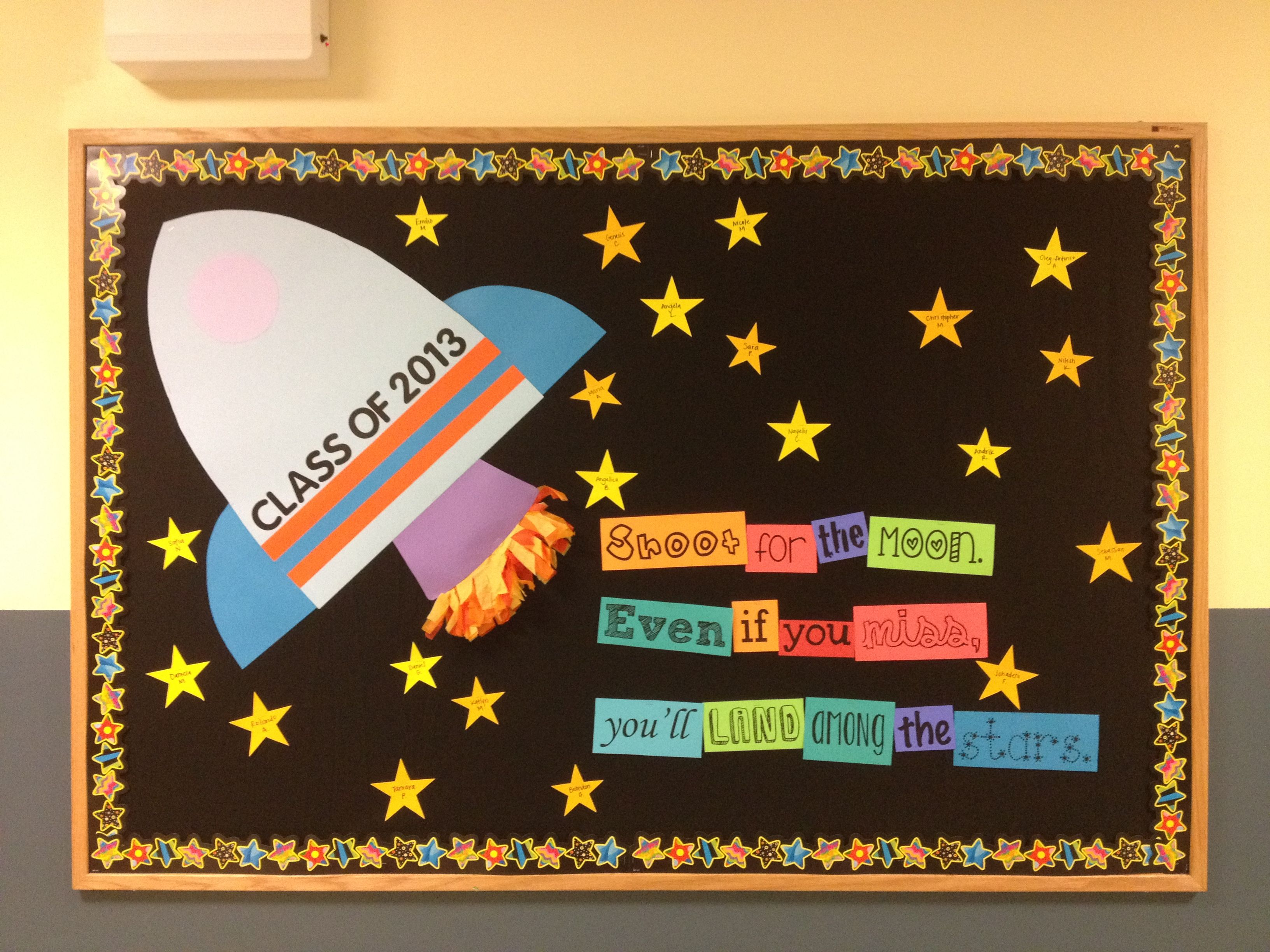 Classroom Decor Stars : Shoot for the moon bulletin board th grade back to
