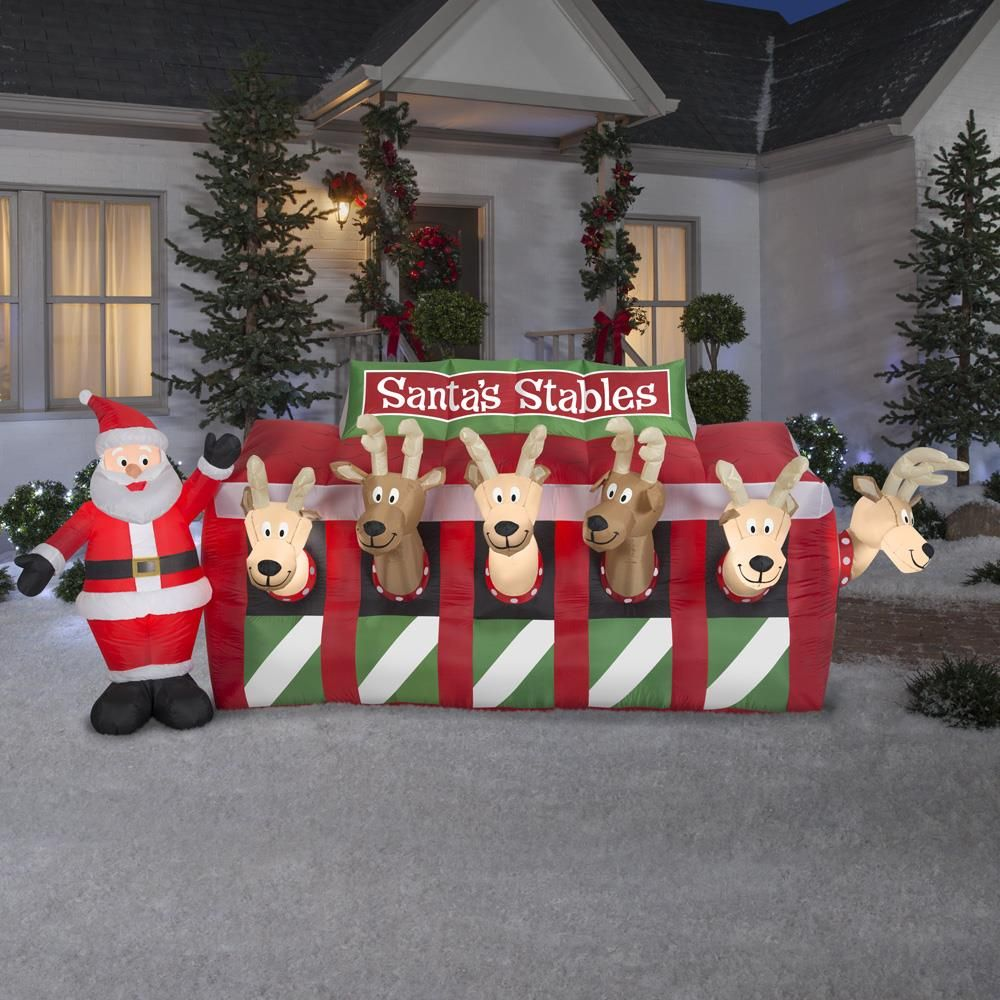 Christmas inflatable lawn decorations