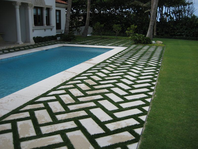 Image result for pavers with artificial grass between