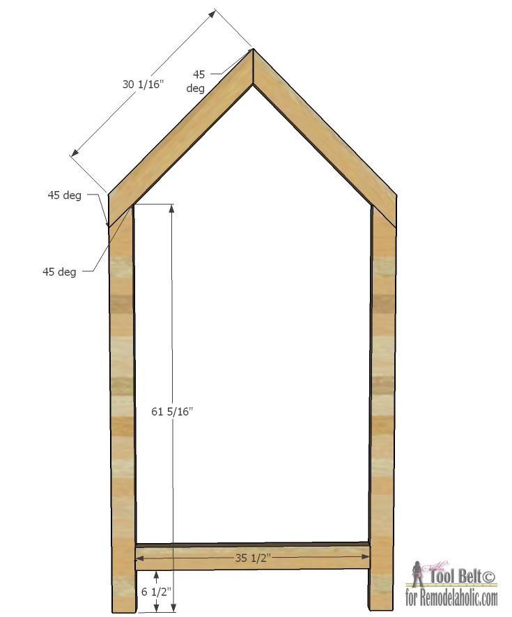 Free plans to build a kid 39 s bed inspired by this unique A frame blueprints
