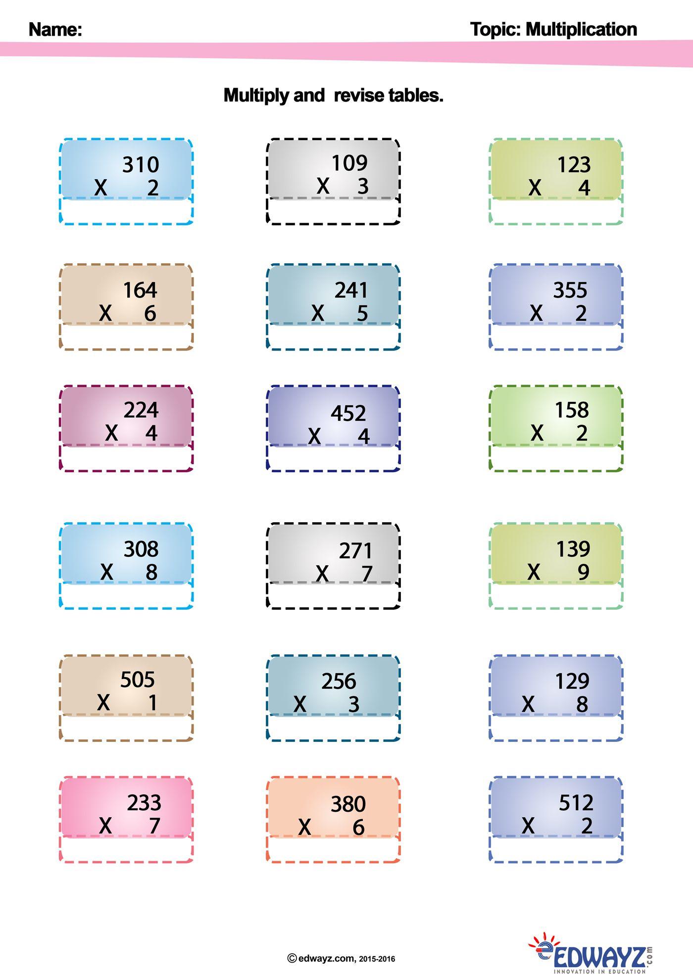 Edwayz Class2 Freeworksheets Multiply Maths