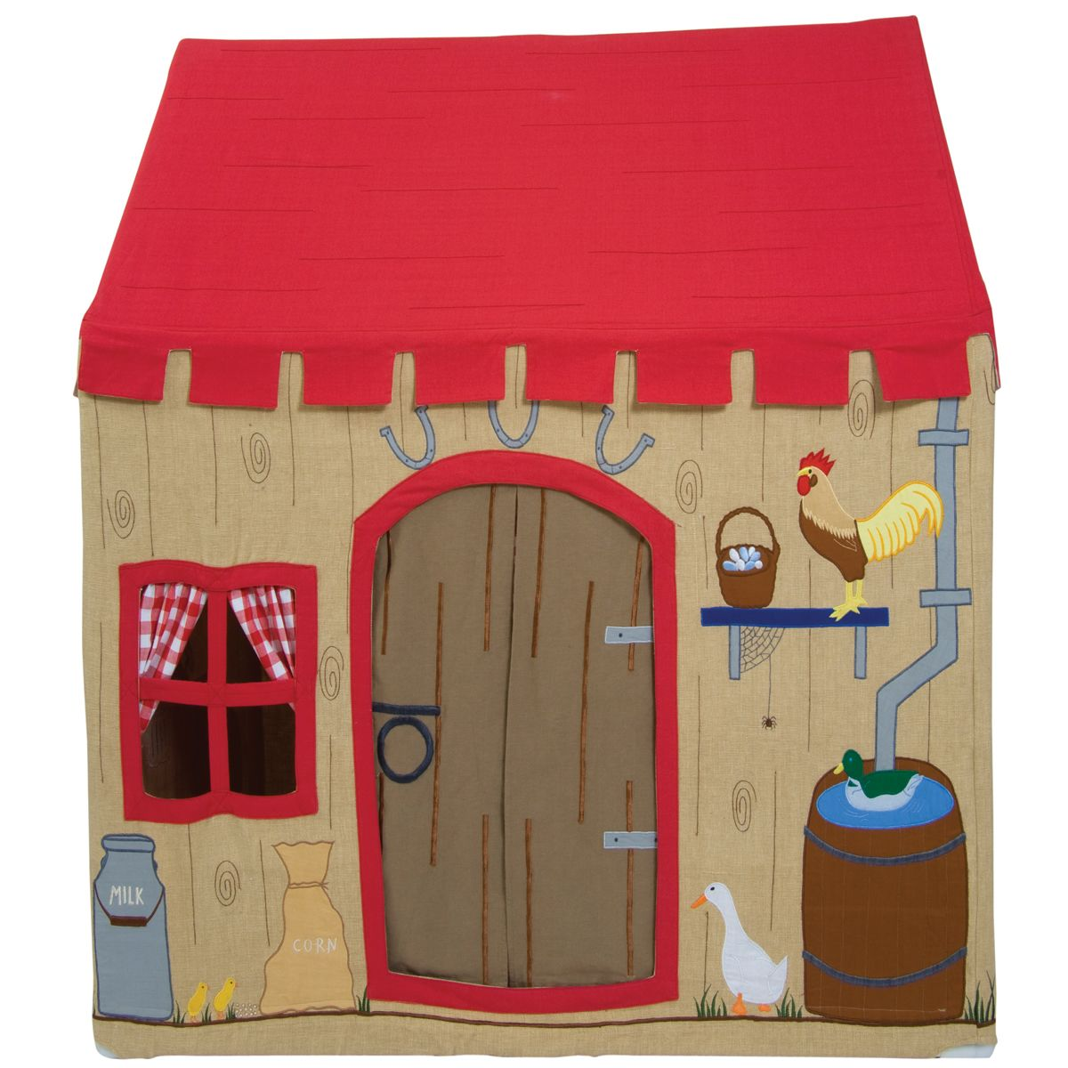 Barnyard Playhouse - fabric tent indoor playhouse for boys farm animal theme  sc 1 st  Pinterest & Barnyard Playhouse - fabric tent indoor playhouse for boys farm ...