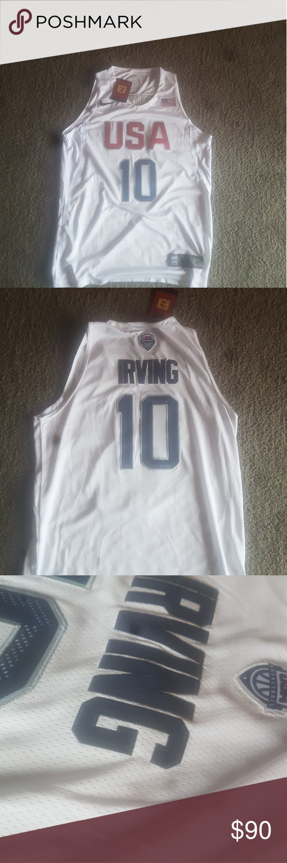 cheap for discount 9096a 66354 Kyrie Irving USA jersey Kyrie USA RIO jersey stiched ...