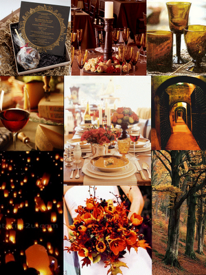VINTAGE FALL DIAMONDS 1930S THEME INSPIRATION BOARD Wedding Red