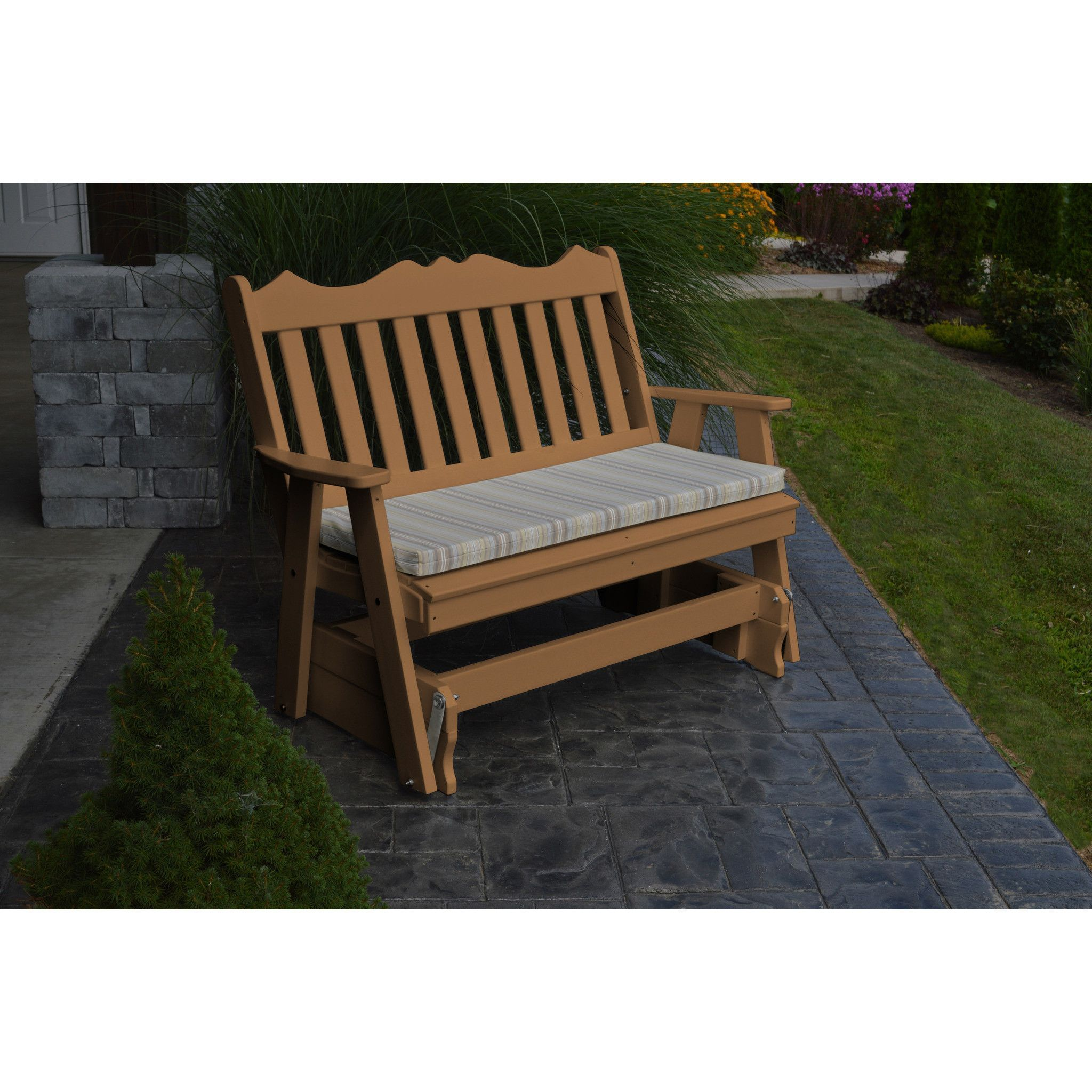 Aul furniture company royal english recycled plastic ft glider
