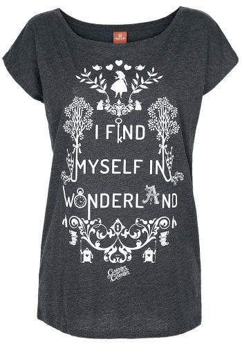 I Find Myself In Wonderland - T-paita - Liisa Ihmemaassa