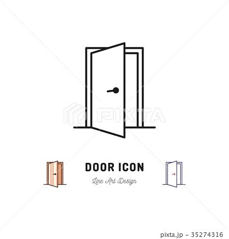 2ページ目 ドアのイラスト素材 Pixta ドア イラスト ロゴ