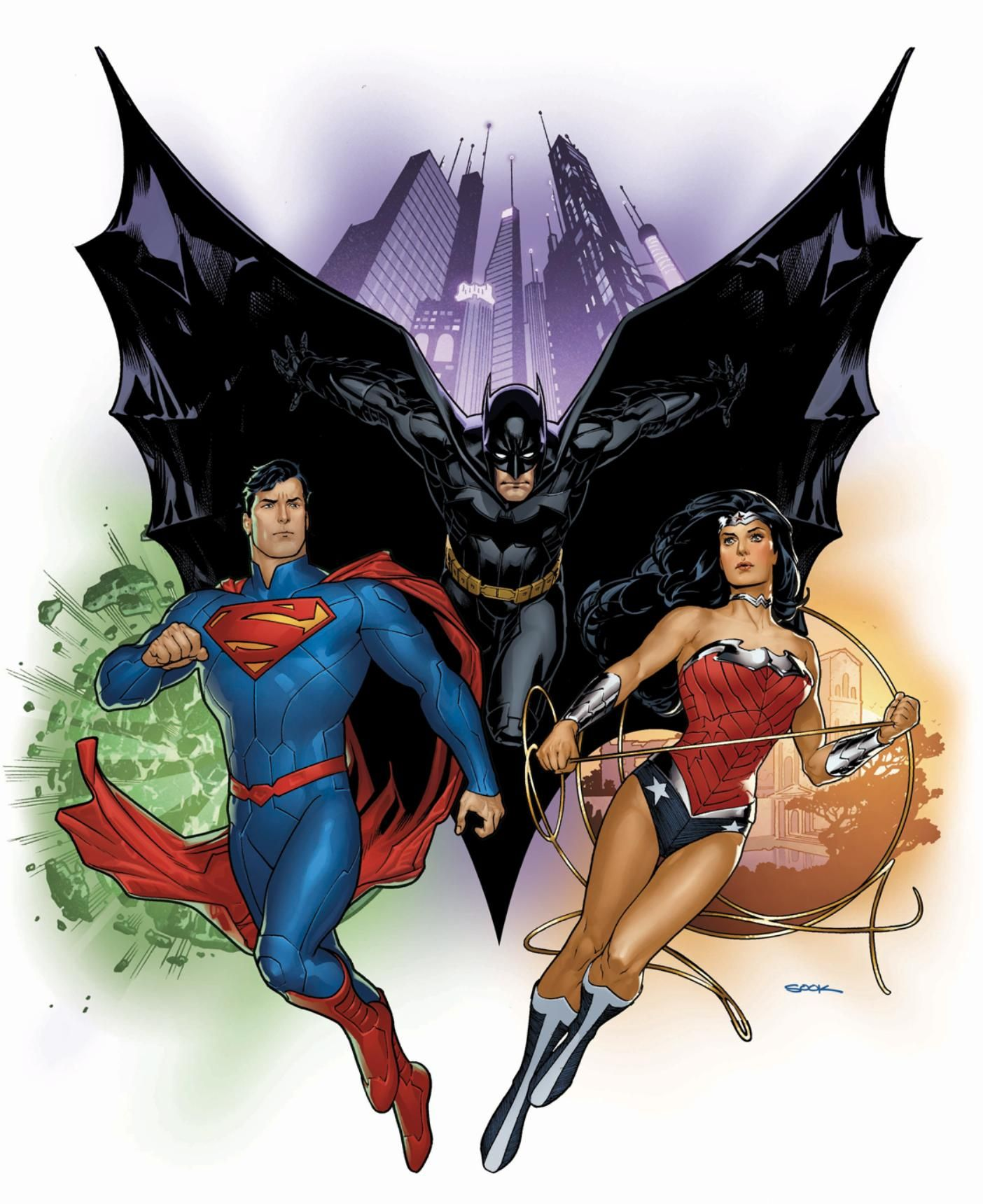 New 52 Trinity by Ryan Sook | SuperBat и Ко | Pinterest ...