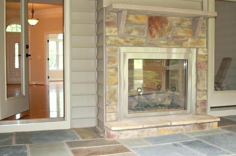 Image Result For Two Way Fireplace Screened In Porch Indoor
