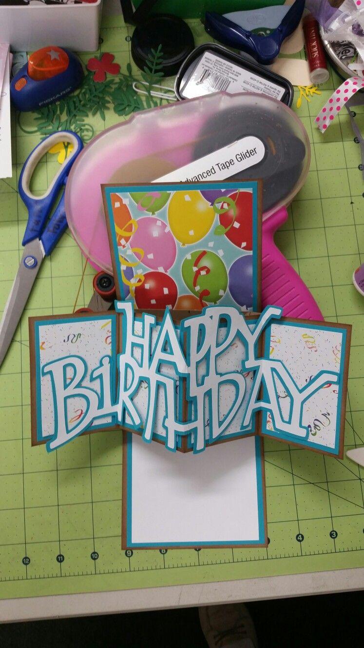 Twist And Pop Birthday Card Inside By Imthankfulforu Craft Co Fun Fold Cards Birthday Cards Diy Birthday Card Pop Up