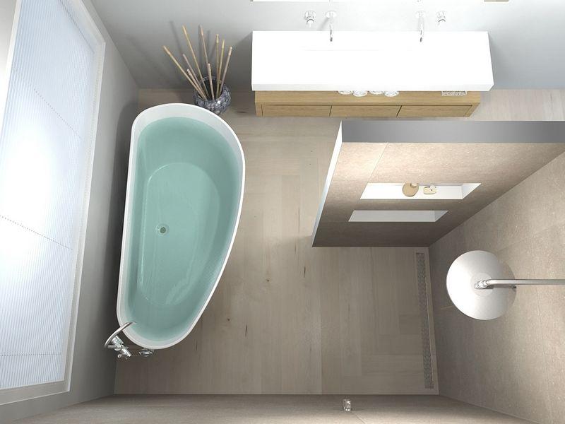 Badkamer met houten vloer de eerste kamer déco home