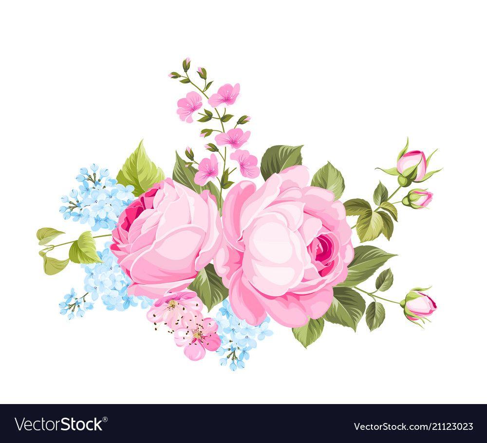 Spring flowers bouquet vector image on VectorStock