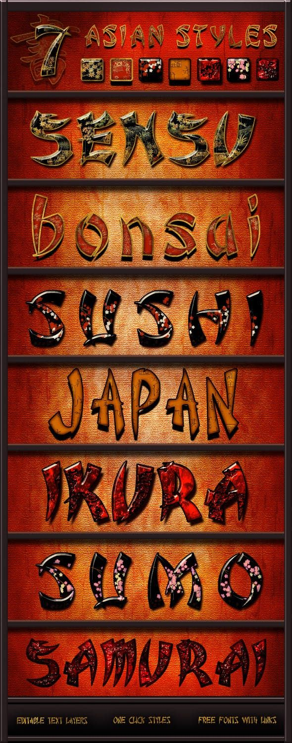 Asian Styles Pack Asian style, text effects
