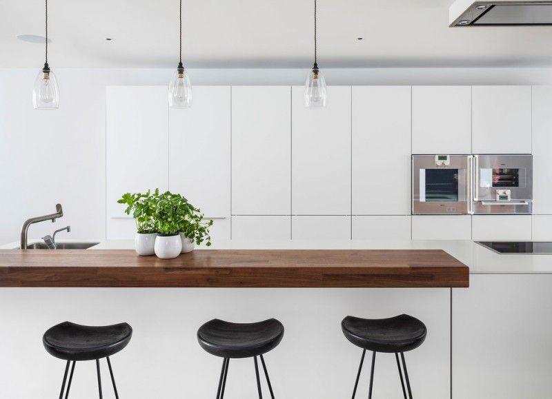 Modernen Chic White Wohnung Küche Panel Decke Anhänger Unterbau