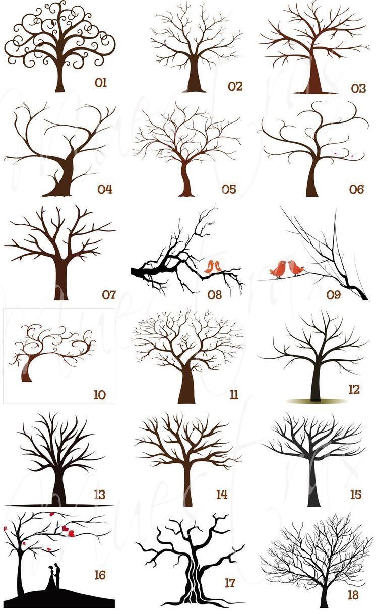 Jeitos De Desenhar Arvores Arte De Arvore Arvore Desenho E