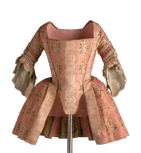 Lovely pink embroidered jacket, probably French.