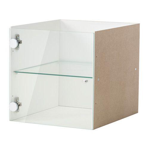 Kallax Insert With Glass Door White 33 X 33 Cm Biz Pinterest
