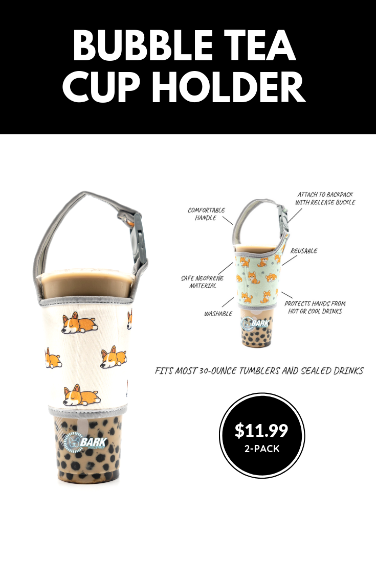 Cute Bubble Tea Cup Holder With Shiba And Corgi Pattern Tea Cups Bubble Tea Cup Holder