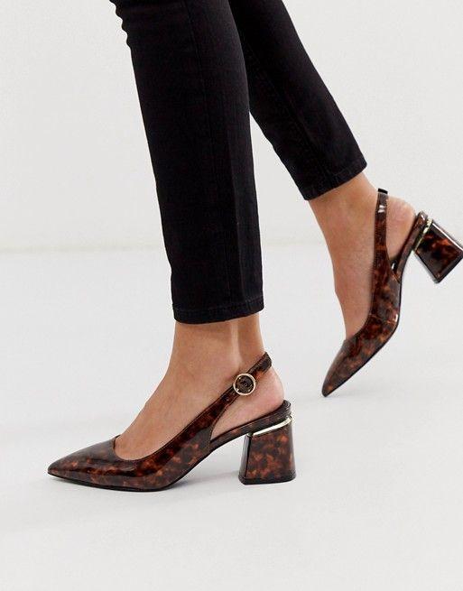 Pointed heels, Heels, Slingback shoes