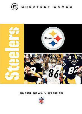 NFL Greatest Games Series Pittsburgh Steelers Super Bowl New DVD Boxset 883929029259   eBay