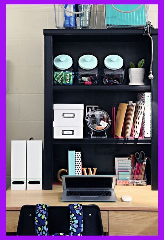 Back To School: Dorm Room Organization Tips (IHeart Organizing) | Dorm Room Essentials Pinter... #organizingdormrooms