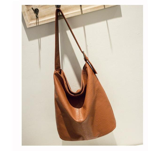 Simple Design Casual Women s Bag Soft Leather Hobo Handbag for Office  Ladies European Fashion Large Capacity 348f2fd806d72