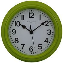Mainstays Basic Plastic Wall Clock Lime Wall Clock Clock Large