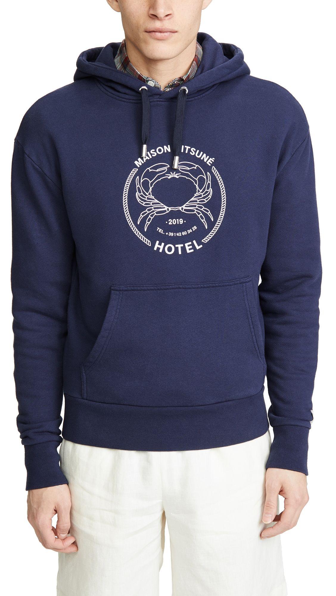 Maison Kitsune Hoodie Maisonkitsune Cloth Hoodies Maison Kitsune Sweatshirt Fashion [ 2000 x 1128 Pixel ]