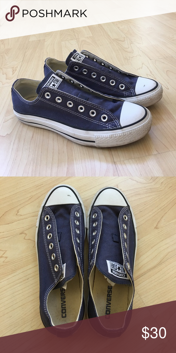 9bf05d816005 Converse Chuck Taylor✨ Lace-less pair of navy blue chucks! Like new  condition